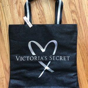 Victoria's Secret Black/Silver Tote Bag, NWT